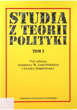 Studia z teorii polityki tom I