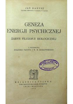 Geneza energji psychicznej 1923 r