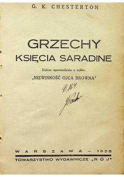 Grzechy księcia Saradine 1928r