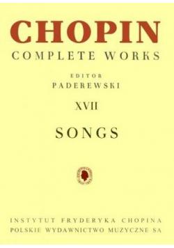 Chopin Complete Works XVII Pieśni PWM