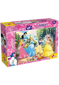Puzzle dwustronne Maxi 108 Disney Princess Na zawsze