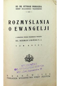 Rozmyślenia o Ewangelii II 1926 r.