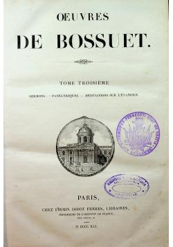 Oeuvres de Bossuet Tome III 1841 r