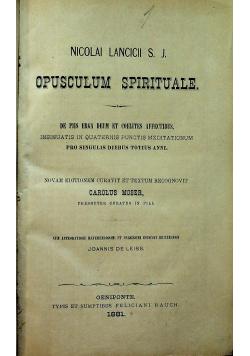 Opusculum Spirituale De Piis Erga Deum et Coelte affectibus 1881 r.