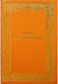 Myśli Św Bernarda reprint 1935 r