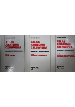 Atlas anatomii człowieka Układowy i topograficzny 3 tomy