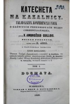 Katecheta na kazalnicy Tom I 1859 r.