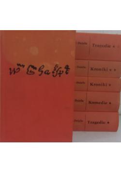 Szekspir dzieła dramatyczne 6 tomów