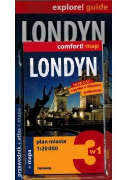Londyn 3w1 przewodnik atlas mapa