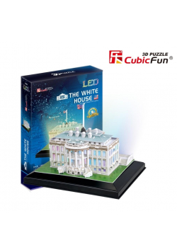 Puzzle 3D Biały Dom LED
