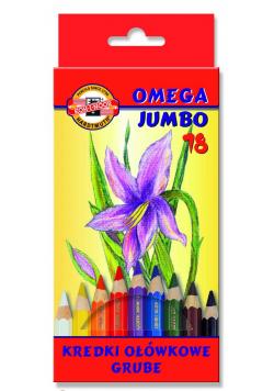 Kredki Omega Jumbo 18 kolorów