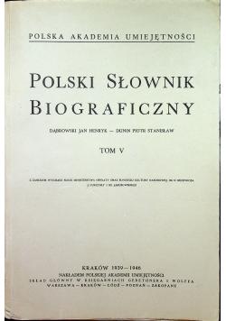 Polski słownik biograficzny  Tom V