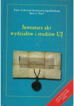 Inwentarz akt wydziałów i studiów UJ