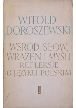 Wśród słów wrażeń i myśli refleksje o języku polskim