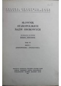 Słownik Staropolskich Nazw Osobowych Tom VI Zeszyt 3