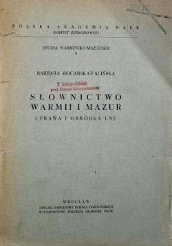 Słownictwo Warmii i Mazur Uprawa i Obróbka Lnu