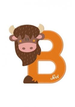 Litera B Bison Zestaw zwierzęcy 12 sztuk