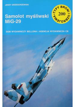 Typy broni i uzbrojenia nr 200 Samolot myśliwski MiG 29