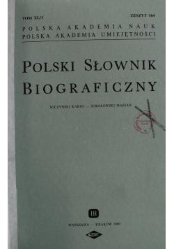 Polski Słownik Biograficzny Tom XL zeszyt 164 do 167