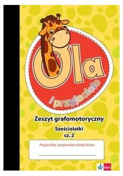 Żyrafa Ola. Zeszyt grafomotoryczny 6-latki cz.2