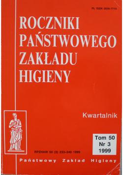Roczniki państwowego zakładu higieny Tom 50 Nr 3