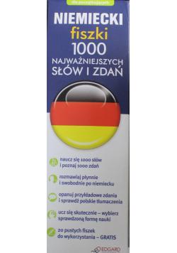 Niemiecki fiszki 1000  najważniejszych słów i zdań Nowa