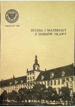 Studia i materiały z dziejów Oławy