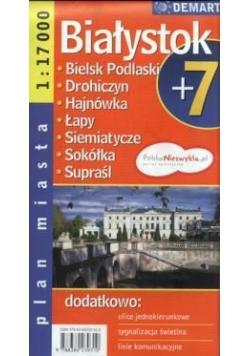 Plan miasta Białystok +7 1:17 000 DEMART