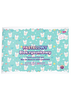 Blok rysunkowy pastelowy Lenka A4/14K 1szt STRIGO