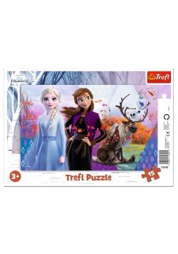 Puzzle ramkowe 15 Magiczny świat Anny i Elsy TREFL
