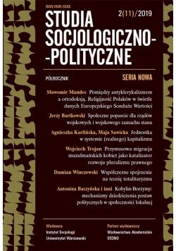 Studia Socjologiczno-Polityczne... nr 2(11)/2019
