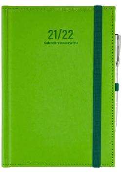 Kalendarz nauczyciela 2021/2022 B6D Nebraska z gumką seledyn