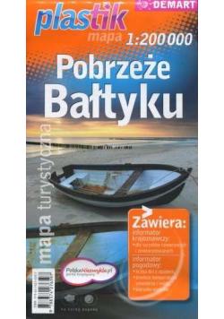 Pobrzeże Bałtyku PLASTIK mapa