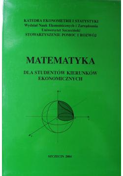 Matematyka dla studentów kierunków ekonomicznych
