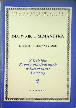 Słownik i Semantyka definicje semantyczne