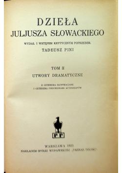 Dzieła Juliusza Słowackiego Tom II 1933 r