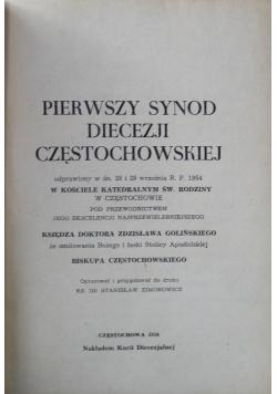 Pierwszy synod diecezji częstochowskiej