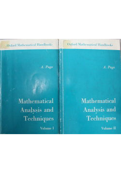 Mathematical Analysis and Techniques Vol I i II