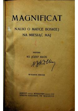 Magnificat  nauki o matce Boskiej na miesiąc maj  1919 r