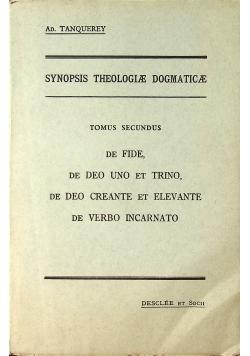 Synopsis theologiae dogmaticae tomus secundus