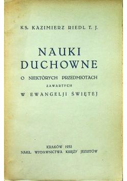 Nauki duchowne  1932 r