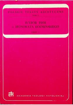 Wybór pism o Honorata Koźmińskiego część 2