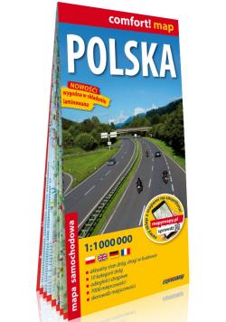 Polska laminowana mapa samochodowa 1:1 000 000