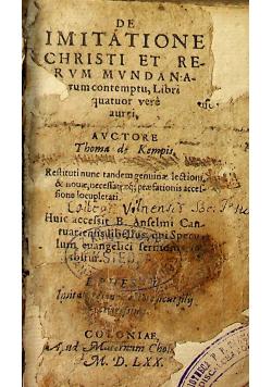 De Imitatione Christi 1570 r.