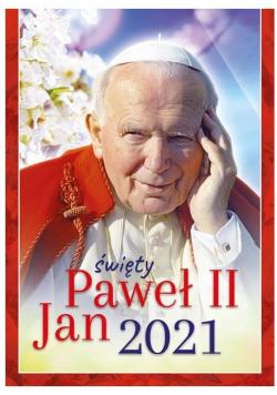 Kalendarz 2021 Ścienny św.Jan Paweł II ekonomiczny