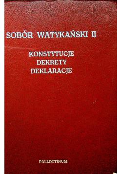 Sobór Watykański II Konstytucje dekrety deklaracje