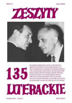 Zeszyty literackie 135 3/2016