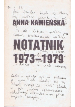 Notatnik 1973 - 1979