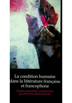 La condition masculine dans la littérature francaise