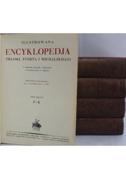 Ilustrowana Encyklopedia Trzaski  Everta i Michalskiego 5 tomów  1927r